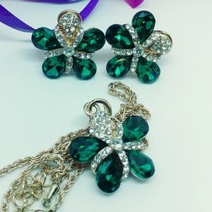 Beautiful Gold & Green Jewelry Set